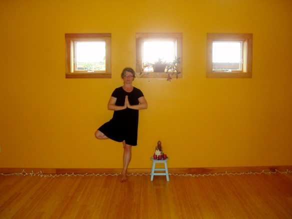 Teaching yoga at Vermont Studio Center, June 2014
